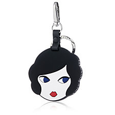 Lulu Guinness Doll Face Silicone Mirror Keyring