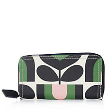 Orla Kiely Stripe Tulip Print Big Zip Wallet
