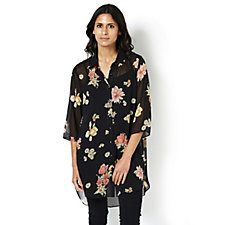 Floral Tulip Print Shirt by Michele Hope