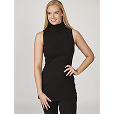 Women with Control Sleeveless Funnel Neck Top