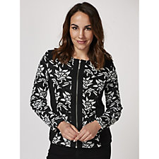Andrew Yu Bi Colour Lace Panel Jacket