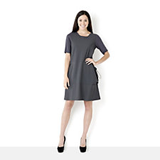 Yong Kim Jersey Dress with Toggle Pockets
