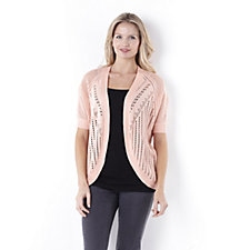 Absolutely Famous Pointelle Cardigan with Dolman Sleeve