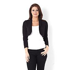 Kim & Co Pique Detail Long Sleeve Bolero