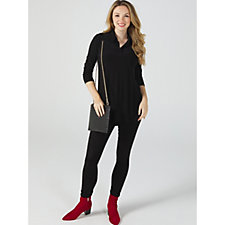 156096 - Attitudes by Renee Long Tunic with Shirt Tail Hem