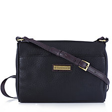 156996 - Tignanello Lexington Pebble Leather  Zip Top Organiser Crossbody Bag