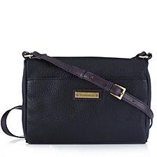 Tignanello Lexington Pebble Leather  Zip Top Organiser Crossbody Bag