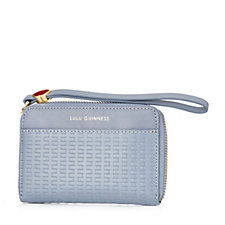 Lulu Guinness Basket Weave Leather Small Continental Wallet