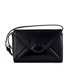 Lulu Guinness Edna Large Leather Lip Envelope Clutch