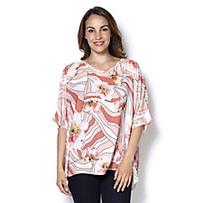 Join Clothes Flower Print Top
