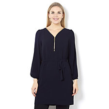 Coco Bianco Long Line Tunic with Elasticated Sleeve Hem