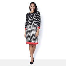 Ronni Nicole 'O So Slim' Printed Shift Dress