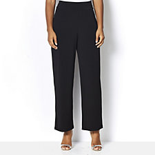 Kim & Co Brazil Knit Straight Leg with Pockets Petite Trousers