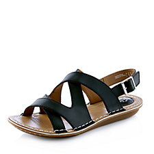 Clarks Tustin Spears Metallic Strappy Sandal Wide Fit