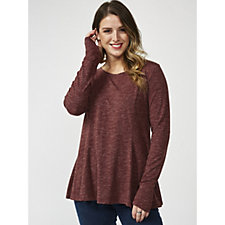 Anybody Cozy Knit Relaxed Peplum Top