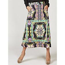 Olivia Scarf Print Maxi Skirt with Pockets by Onjenu London