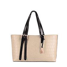 169096 - Amanda Wakeley East West Dean Leather Croc Effect Tote Bag