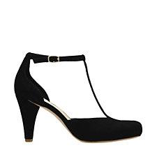 Clarks Dalia Tulip T Bar Court Shoe Wide Fit