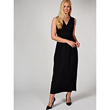 173596 - Wrap Front Maxi Dress with Ruffle Detail by Nina Leonard