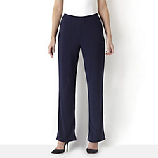 Slim Fit Waistband Trouser  With Wide Leg by Nina Leonard