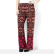 Attitudes by Renee  Print Wide Leg Trousers