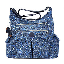 Kipling Sorrel Large Shoulder Bag with Double Zip Front Pockets