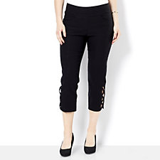 Mr Max Crop Trousers with Lattice Hem Detail