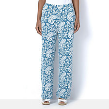 Floral Paisley Printed Trousers by Michele Hope