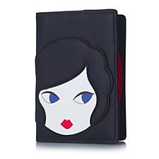 Lulu Guinness Doll Face Passport Holder