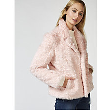 Isaac Mizrahi Live Curly Faux Fur Jacket