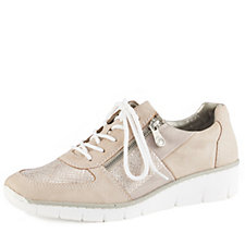 Rieker Lace Up Trainer with Side Zip Detail