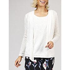 Kim & Co Soft Sweater Knit Long Sleeve Bolero