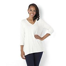 MarlaWynne V-Neck 3/4 Sleeve Butterfly T Shirt