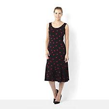 Attitudes by Renee Lips Print Sleeveless Dress