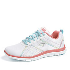Skechers Sport Flex Appeal Totally Fab Lace Up Trainer with Memory Foam