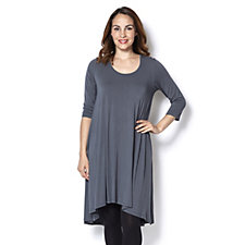 Join Clothes 3/4 Sleeve Tunic Dress with Centre Seam Detail