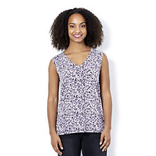 Royal Brushes Printed Top by Michele Hope