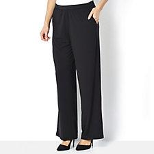 H by Halston Jet Set Jersey Wide Leg Trousers