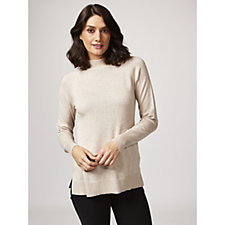 H by Halston Mock Neck Pullover