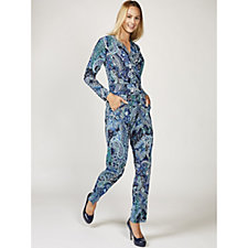 Megan Long Sleeve Paisley Print Jumpsuit by Onjenu London