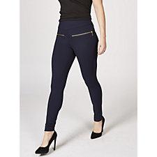 Elasticated Waist Leggings with Faux Pockets by Nina Leonard