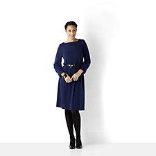 Tiana B Sweater Knit Dress with Belt