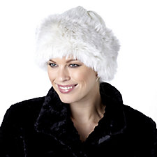 Dennis Basso Cable Knit Hat with Faux Fur Trim