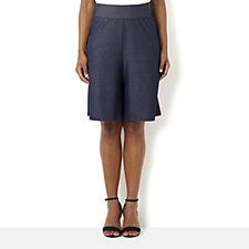 Kim & Co Stretch Denim Culotte Shorts