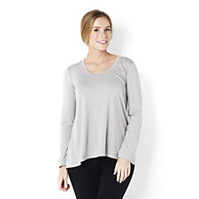 H by Halston Long Sleeve Scoop Neck Top