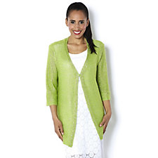 Sequin Knit Edge to Edge Cardigan by Michele Hope