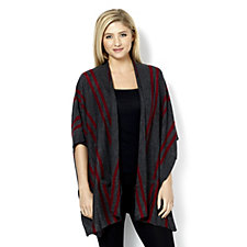 Knitwear by Etoile Stripe Poncho with Pockets