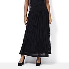Ronen Chen Rina Flock Detail Long Skirt