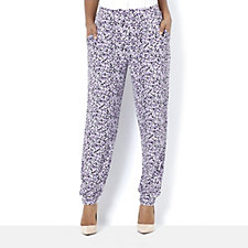 Royal Brushes Printed Cuff Hem Trousers by Michele Hope