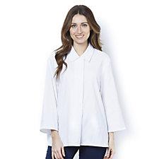 MarlaWynne Chevron 3/4 Sleeve Tunic Shirt
